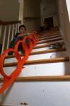 Making the ultimate loop-de-loop with Hot Wheels Speedometry set.
