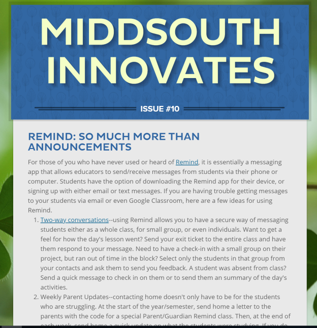 MiddSouth Innovates 10